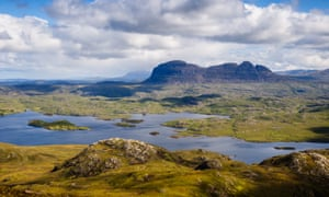 The solitary mountains in Assynt, Sutherland, Scotland