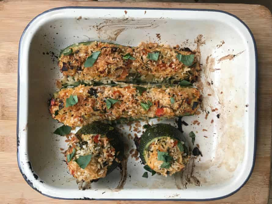 Felicity Cloake's stuffed courgettes