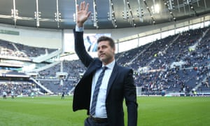 Mauricio Pochettino at Tottenham's new stadium