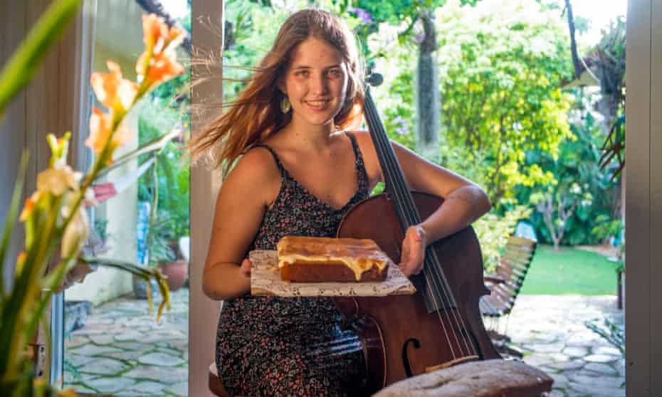 Cellist Sarah Sofia Gutierrez.
