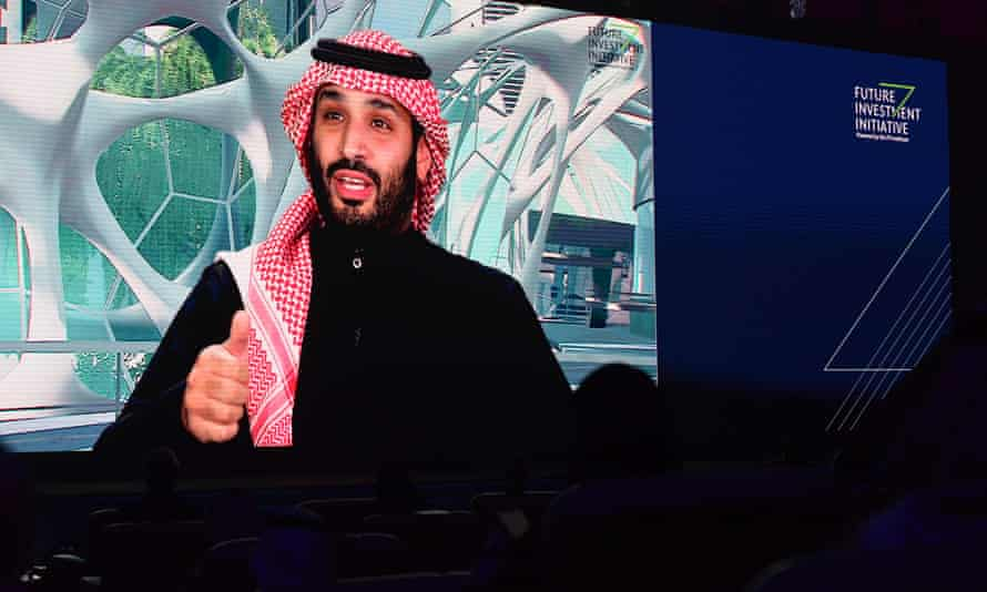 Mohammed bin Salman at a talk in Riyadh in January. The activists told the Guardian they believed the 35-year-old crown prince would be emboldened after the White House declined to sanction him.