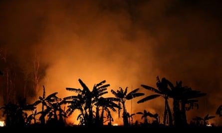 A fire near Porto Velho, Brazil, September 2019.