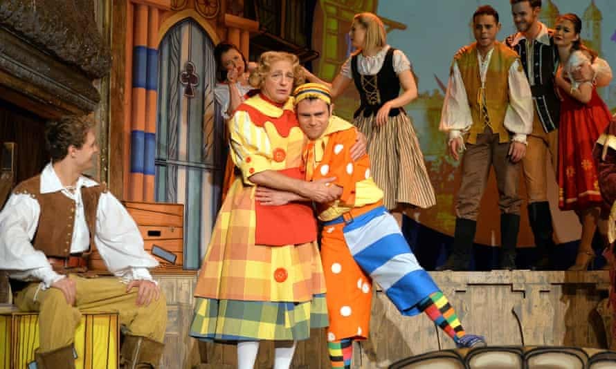 Mother and idle son … Roy Hudd as Sarah the Cook.
