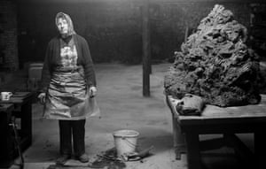 Female brick worker, William Mobberley Brickworks, Kingswinford, 1983.