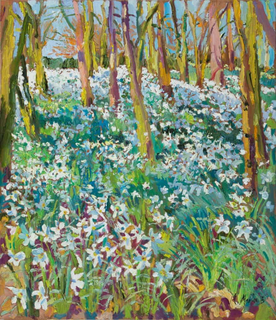 Pheasant-eye wood (Radland Valley) in afternoon sun by Mary Martin