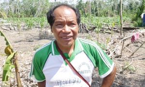 Gregorio Pérez, 52, whose son was killed by the Mashco Piro in May, in Shipetiari.