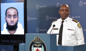Toronto police chief Mark Saunders at a news conference