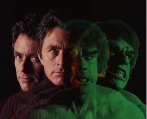 Bill Bixby and Lou Ferrigno in The Incredible Hulk.