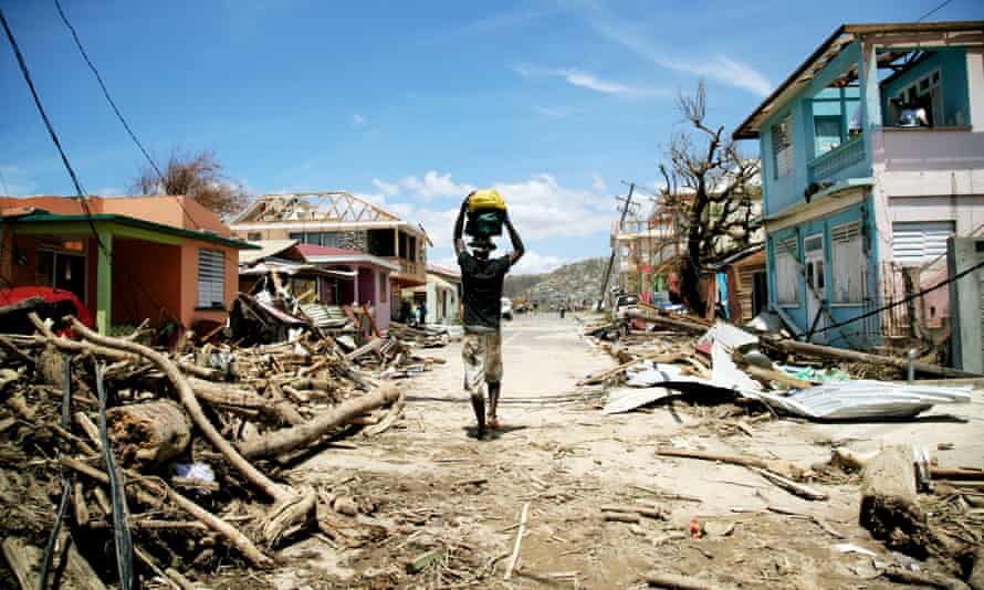 Hurricane damage in Roseau, Dominica.