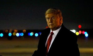 US President Donald Trump exits Air Force One after returning from Pennsylvania to Joint Base Andrews in Maryland.