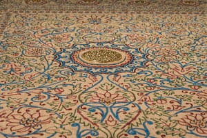 In stitches … a Baroda carpet in the Pearls and Celebrations gallery.