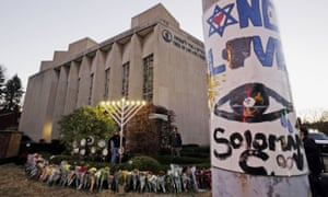 The Tree of Life synagogue in Squirrel Hill, Pittsburgh, a year on from the mass shooting that killed 11 people.