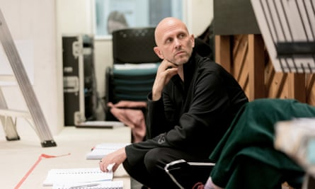 Wayne McGregor in rehearsals for Sweet Charity at the Donmar Warehouse.