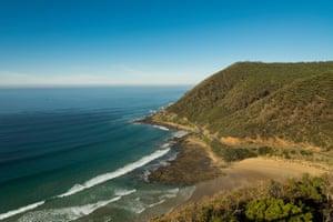 The Great Ocean Road outside Lorne