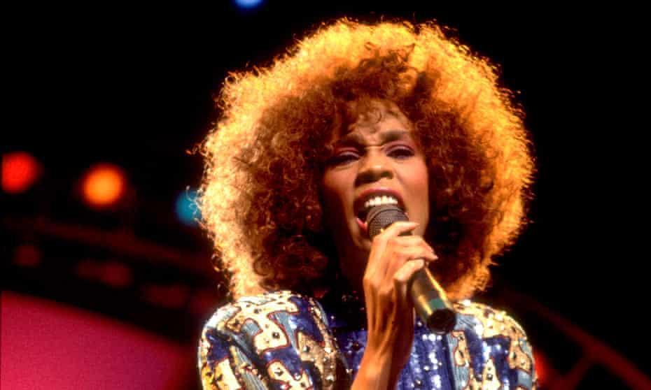Whitney Houston performing in Illinois in August 1986.