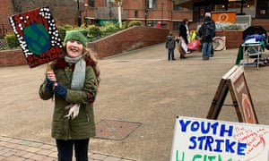 Sophie Davies, 10, helped set up the first schools climate strike in Redditch in Worcestershire.