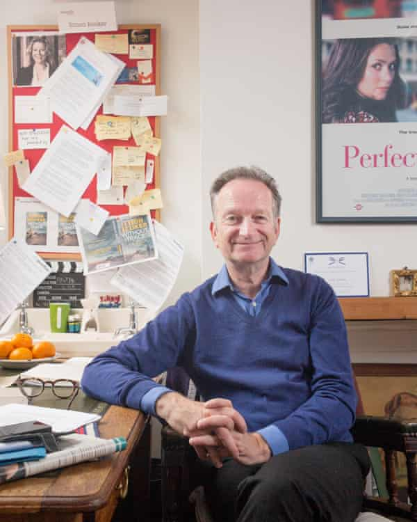 Simon Booker today in his study.