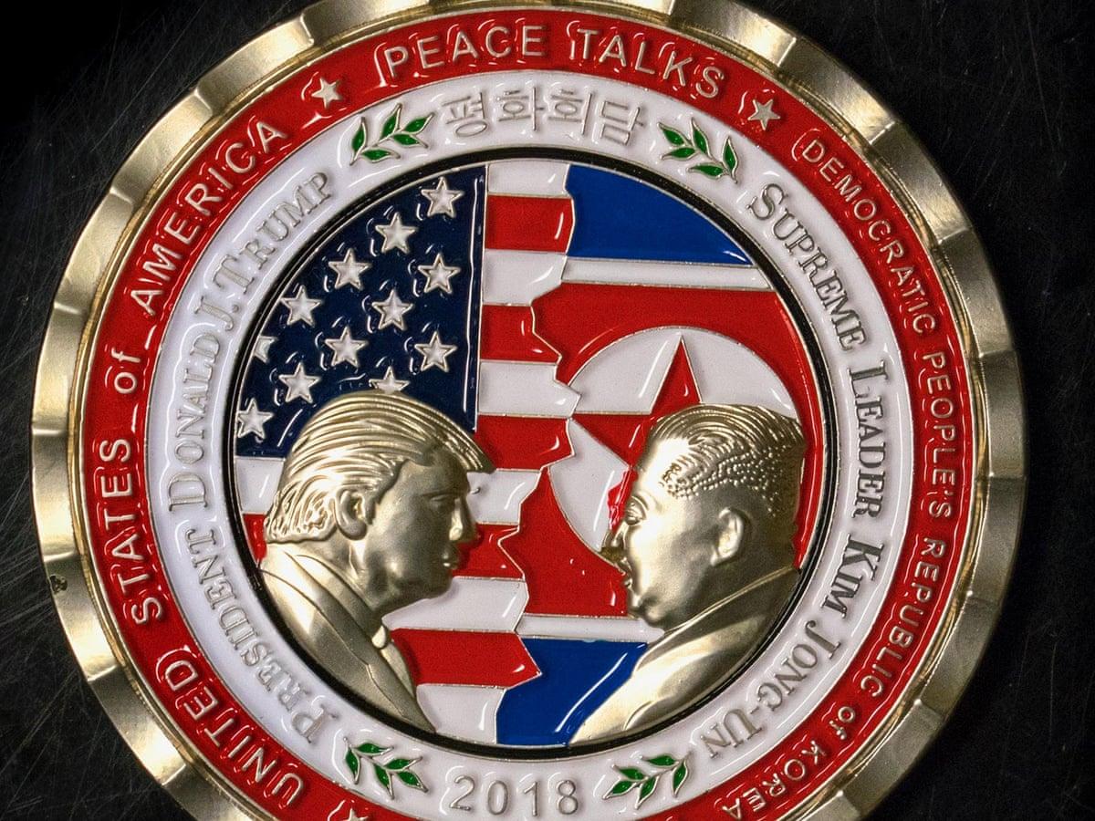 Weird, odd, a dumpster fire': Trump's North Korea summit coin ridiculed |  US news | The Guardian