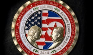 A coin featuring Donald Trump and Kim Jong-un has been produced by the White House.