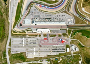 The 3.4-mile motor racing track – home to Formula 1 – now serves as the largest vaccination site in Central Texas, capable of administering up to 10,000 vaccines each day.