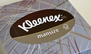 kleenex drops mansize branding from tissue boxes after complaints