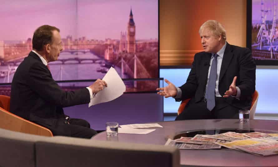 Boris Johnson appears on the Andrew Marr show