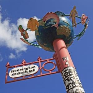 Toronto, Kensington Market Sign. Image shot 2006. Exact date unknown.