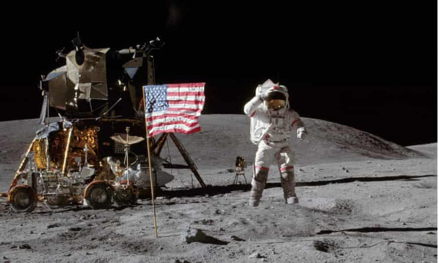 'It is amazing how they managed to get to the moon with such primitive technology. It had nothing approaching the power of an iPhone' ... Apollo 16 commander John Young on the moon.