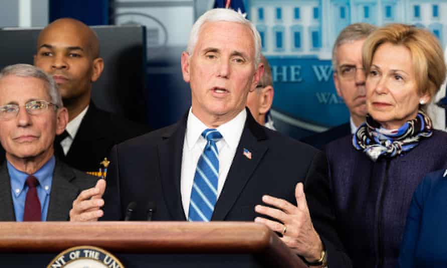 Mike Pence speaks at a press conference in Washington DC Tuesday.
