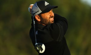 Omega Dubai Desert Classic - Day Three<br /> DUBAI FEBRUARY 04 2017: Sergio Garcia of Spain hits his tee shot on the 14th hole during the third round at Emirates Golf Club