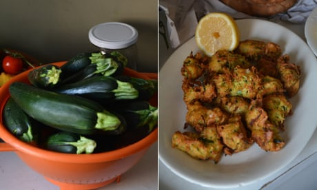 Rachel Roddy's recipe for courgette and ricotta fritters