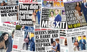 collage of uk front pages