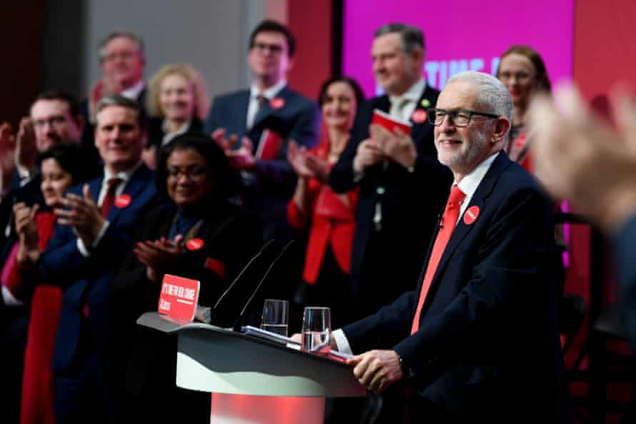 Labour Party General Election Manifesto Launch, Birmingham, UK - 21 Nov 2019Mandatory Credit: Photo by James Veysey/REX/Shutterstock (10481792bj) Jeremy Corbyn and members of the shadow cabinet at the launch of the 2019 Labour manifesto. Labour Party General Election Manifesto Launch, Birmingham, UK - 21 Nov 2019
