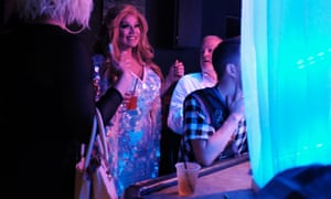 A drag queen at the Wanderlust gay bar in Mississippi.