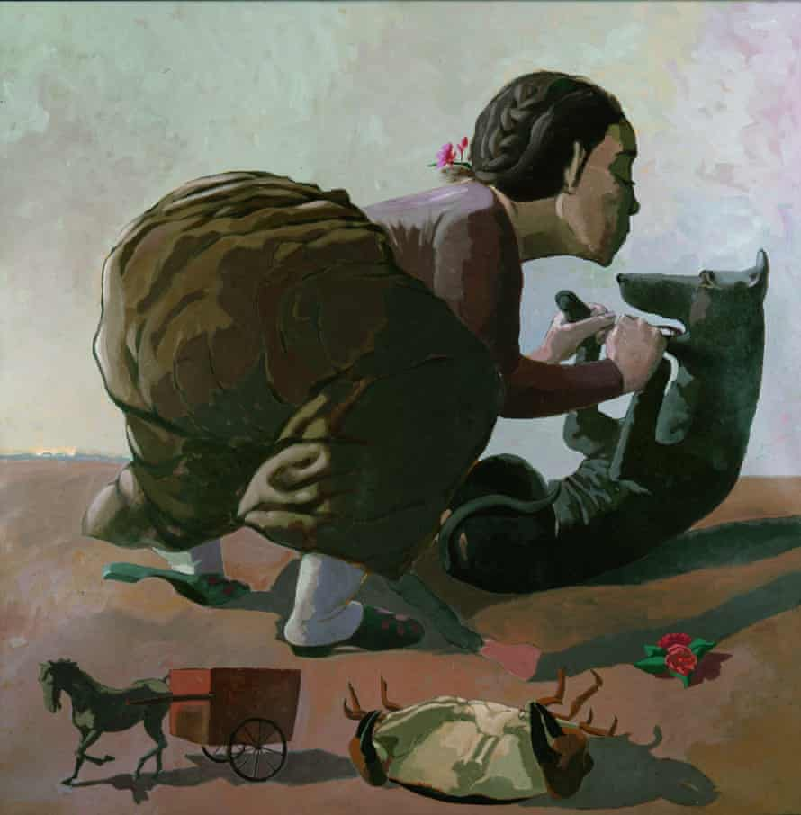 Snare, 1987 by Paula Rego.