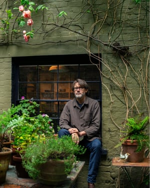 Observer food writer Nigel Slater, photographed in the garden of his north London home.