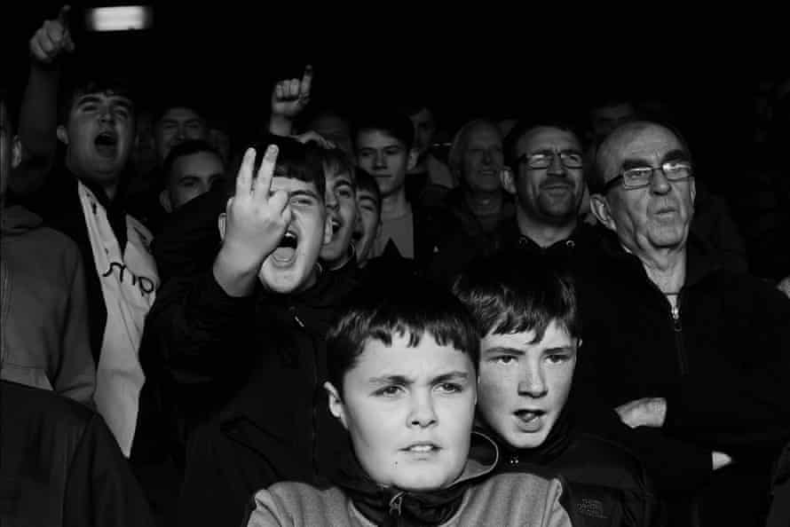 Supporters look a little unimpressed