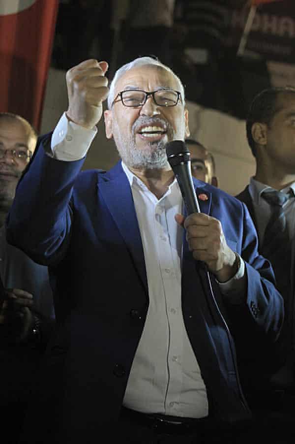 Rachid Ghannouchi, leader of the Islamist Ennahda party.