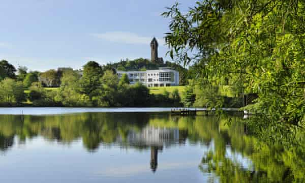 University of Stirling Campus view to Cottrell Building