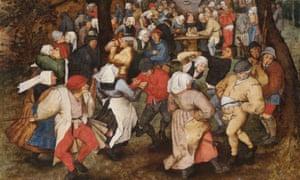 Bruegel's Wedding Dance, featuring Flemish bagpipes.