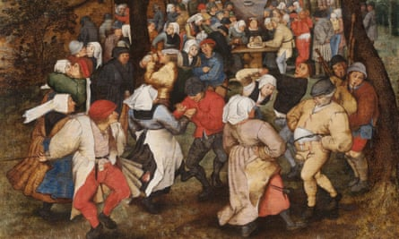 Bruegel's Wedding Dance, featuring Flemish bagpipes.
