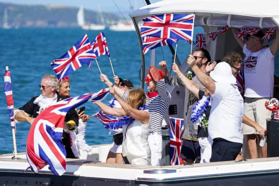 Supporters are allowed to watch the action in boats and on land in Auckland.