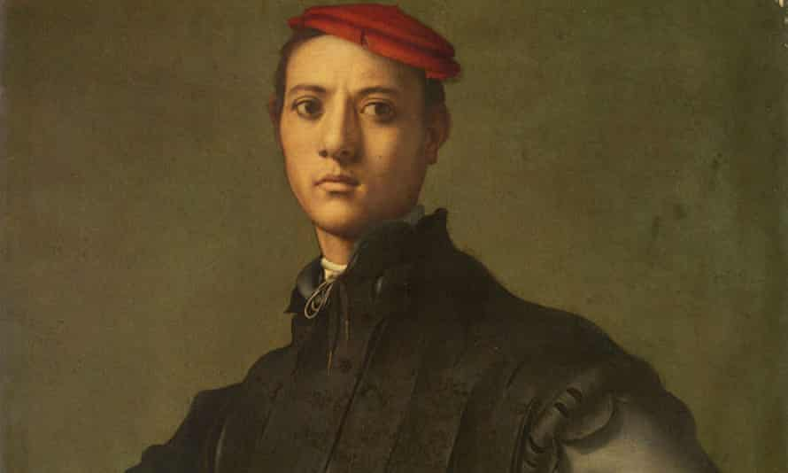 Detail from Portrait of a Young Man in a Red Cap by Pontormo