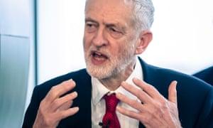 Jeremy Corbyn delivers a speech on Brexit in Wakefield on 10 January.