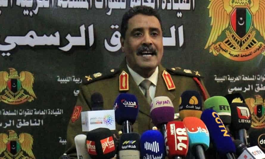 A spokesman for the Libyan National Army, Ahmed al-Mismari