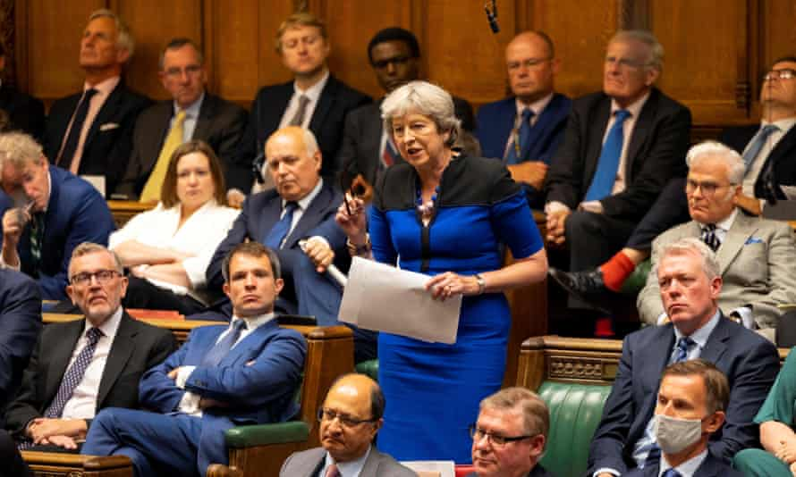 Theresa May speaking in parliament on Afghanistan, 18 August 2021.