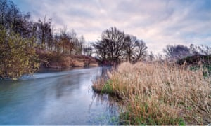 The River Lugg at Lugg Meadow, Herefordshire.