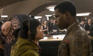 Buzzing with self belief … Kelly Marie Tran and John Boyega.