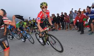 Simon Yates during Stage 15 of the Vuelta a España.