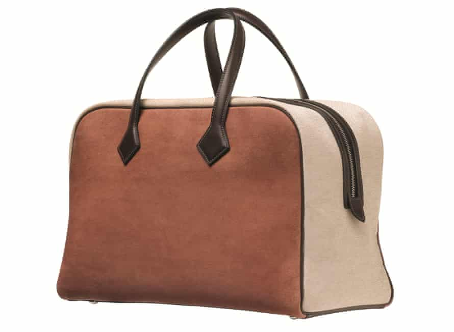 The autumn/winter 2021 Hermès Victoria bag in leather lookalike Sylvania.